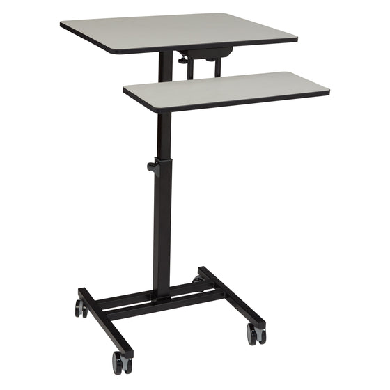 Sit-Stand Students Desk Grey Nebula Surface