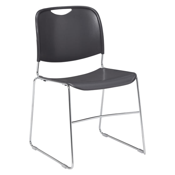 8500 Series Ultra-Compact Plastic Stack Chair Gunmtl