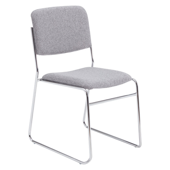 8600 Series Fabric Padded Signature Stack Chair Grey