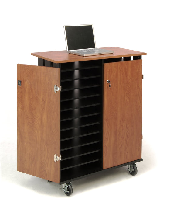 Laptop Charging/Storage Cart Wild Cherry Surface