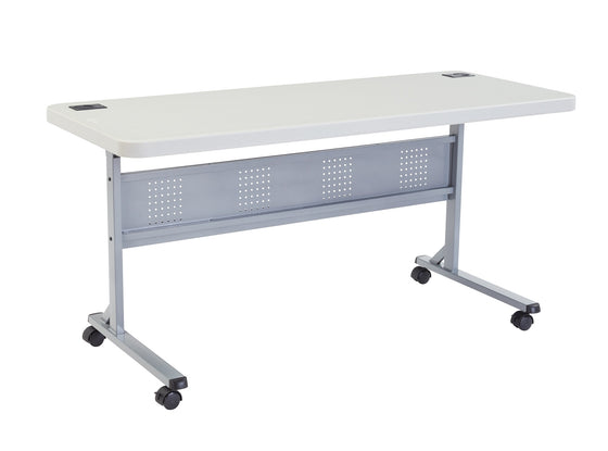 "24"" x 60"" Flip-N-Store Training Table Speckled"