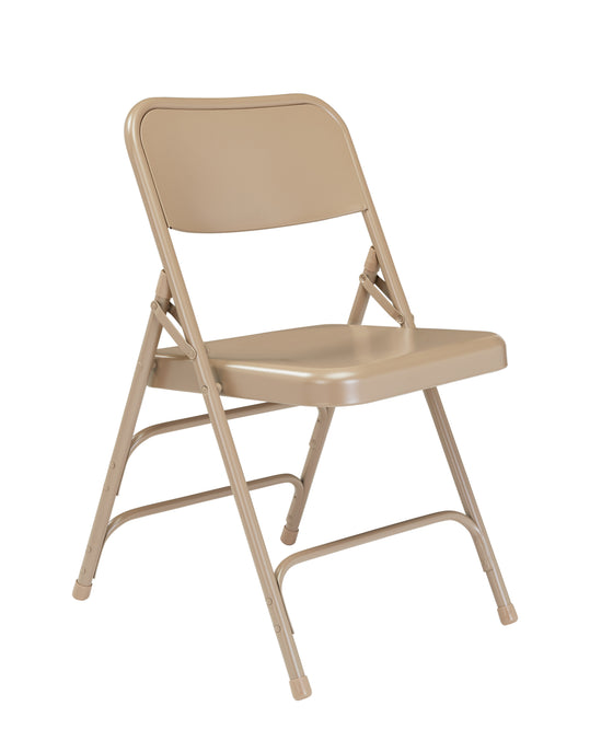 300 Series Deluxe  Double Hinge Folding Chair Beige