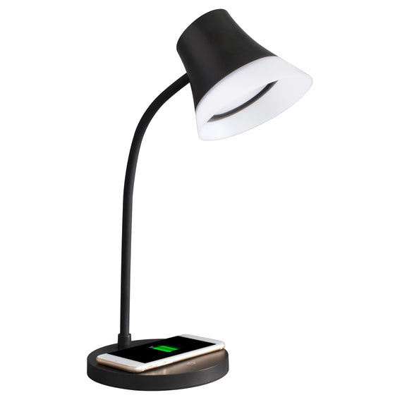 OttLite Shine LED Desk Lamp with Wireless Charging