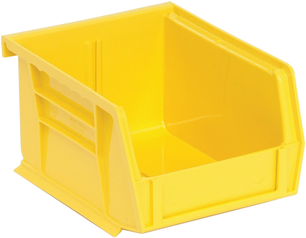 "Quantum QUS200 Ultra Stack and Hang Bin 5"" x 4-1/8"" x 3"" - Yellow"