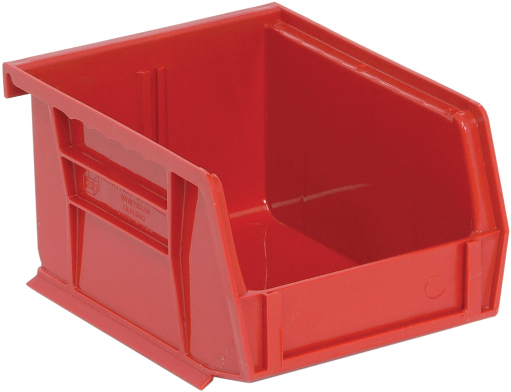 "Quantum QUS200 Ultra Stack and Hang Bin 5"" x 4-1/8"" x 3"" - Red"