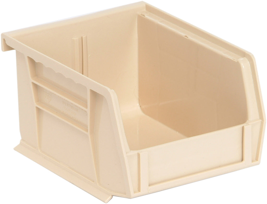 "Quantum QUS200 Ultra Stack and Hang Bin 5"" x 4-1/8"" x 3"" - Ivory"