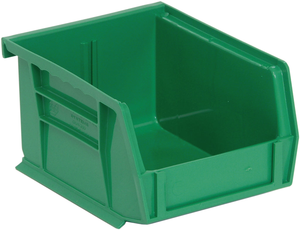 "Quantum QUS200 Ultra Stack and Hang Bin 5"" x 4-1/8"" x 3"" - Green"