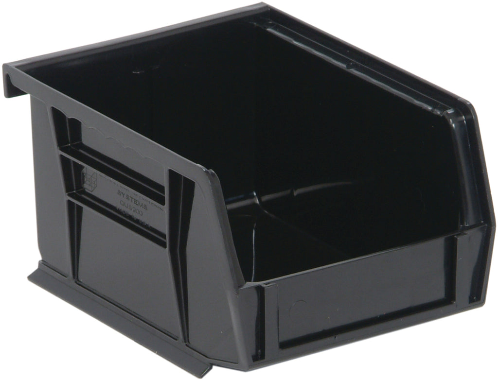 "Quantum QUS200 Ultra Stack and Hang Bin 5"" x 4-1/8"" x 3"" - Black"
