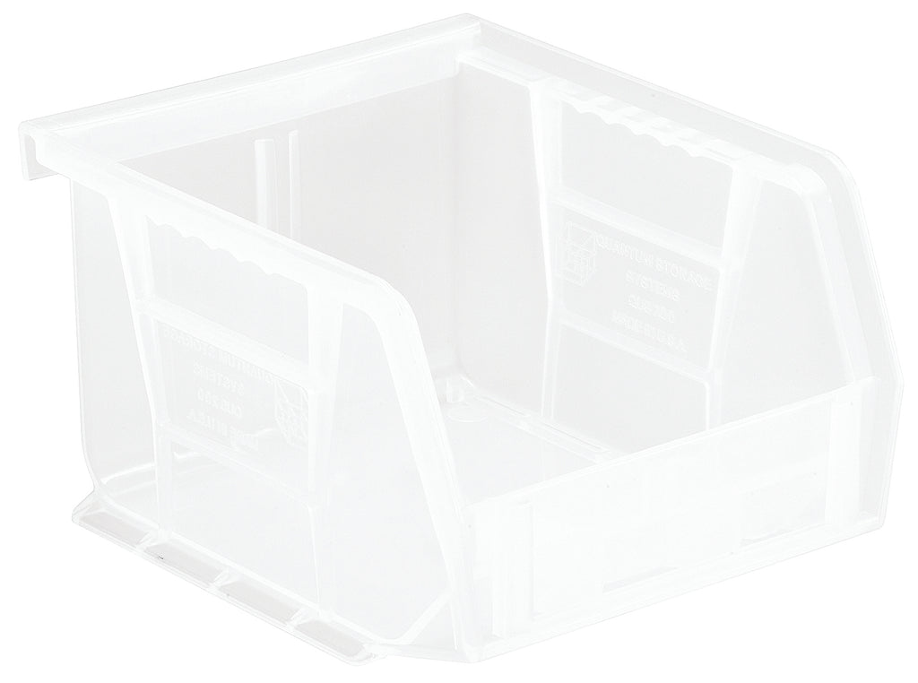 "Quantum QUS200 Ultra Stack and Hang Bin 5"" x 4-1/8"" x 3"" - Clear"