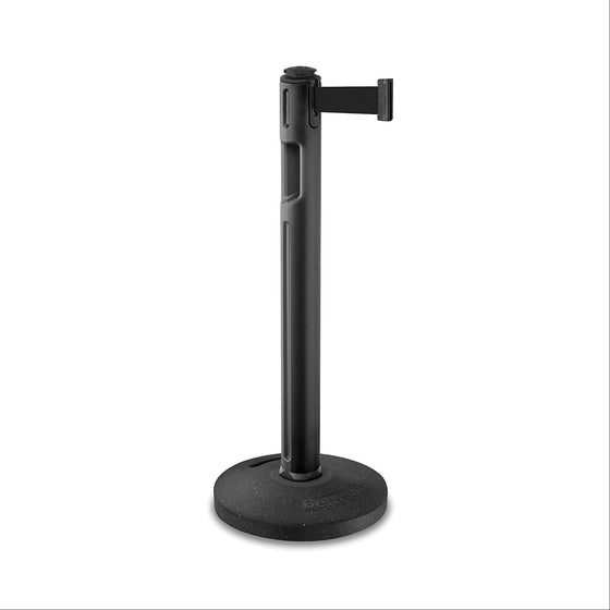 12' Lightweight Stanchion with Retractable Belt - Black Belt