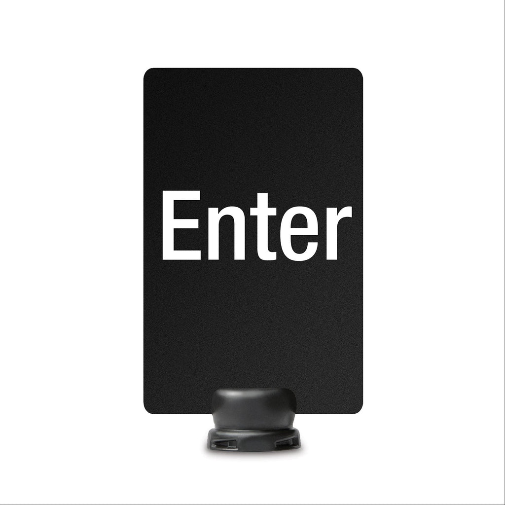 "Enter Signage for Lightweight Stanchion - 7"" x 11"""