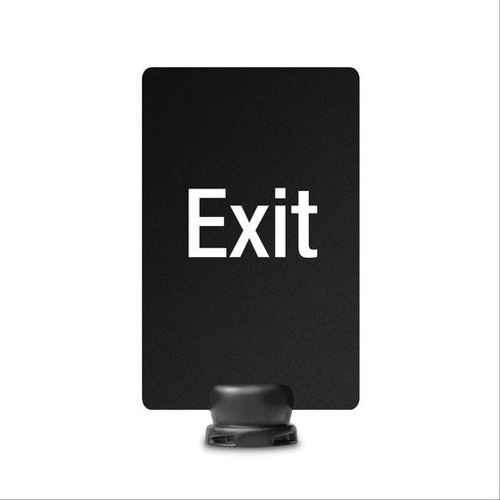 "Exit Signage for Lightweight Stanchion - 7"" x 11"""