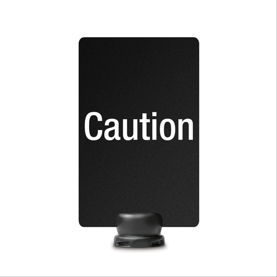 "Caution Signage for Lightweight Stanchion - 7"" x 11"""