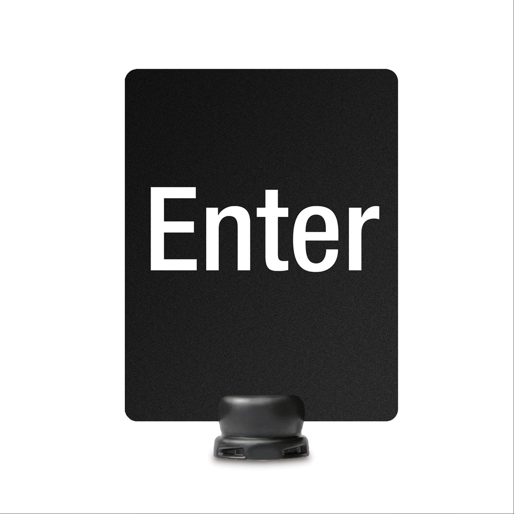 "Enter Signage for Lightweight Stanchion - 8.5"" x 11"""