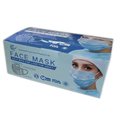 Disposable Face Masks - 50 per Box