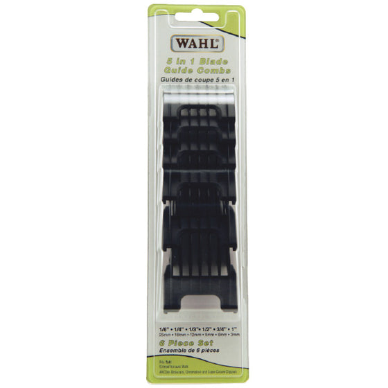 Wahl 5-in-1 Blade Combs 6-Pack