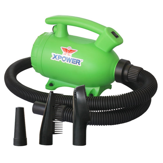 XPOWER B-55 Portable Home Pet Grooming 2-in-1 Dog Force Hair Dryer and Vacuum