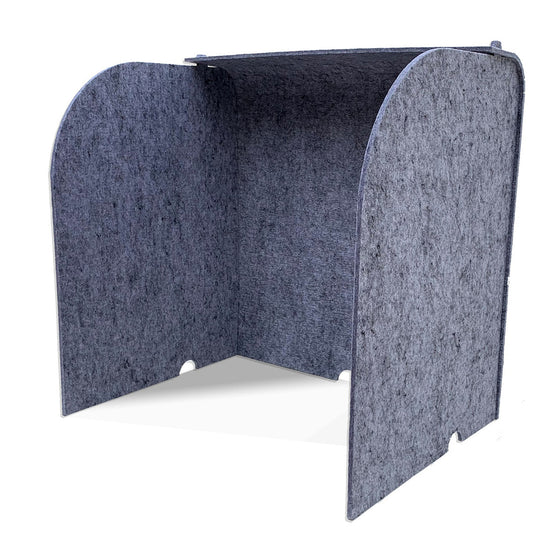 Ghent Acoustic Desktop Surround Protection Screen with Silver PET Felt