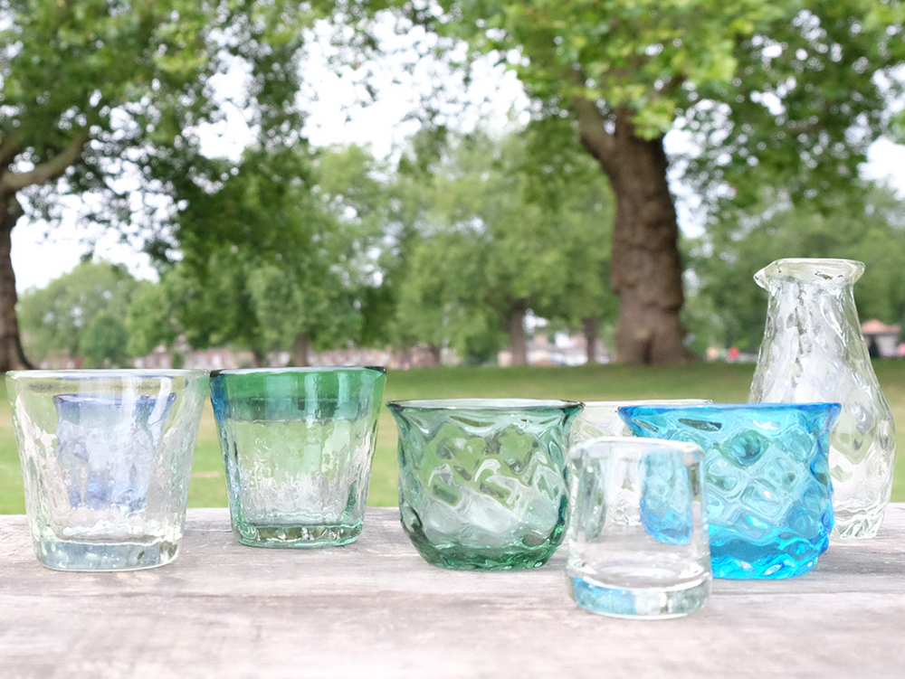 Saisei Glass at wagumi for Summer.