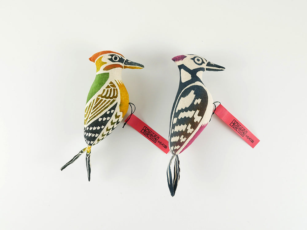 Load image into Gallery viewer, Woodpecker (Orange& Green/ Red & Black)
