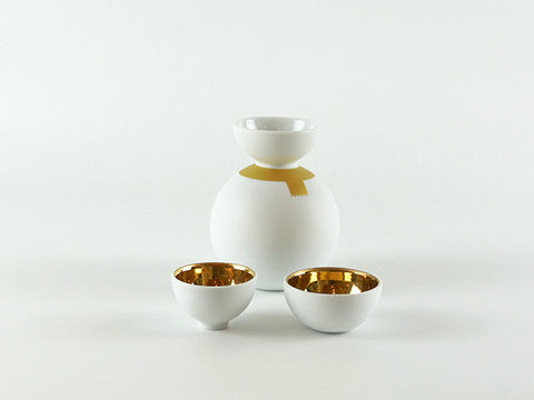 Ceramic Japan Snowman Sake Set