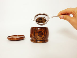 Load image into Gallery viewer, 'Taiko' Wood Tea Strainer Set by Gato Mikio