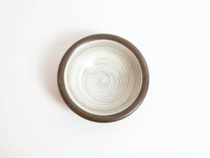 Small Kasama Hakeme Brush Decorated Bowl by Hiroshi Otsu