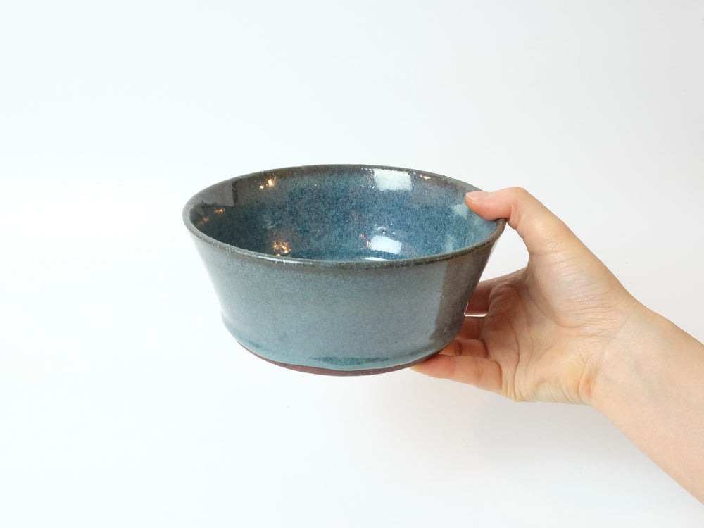 Load image into Gallery viewer, Blue Soup Bowl by Motoharu Ozawa