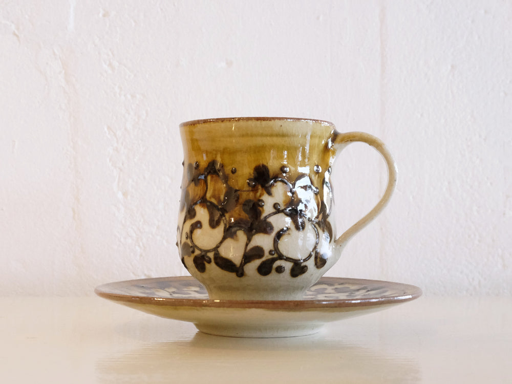 Load image into Gallery viewer, Icchin Cup and Saucer by Aya Kondo