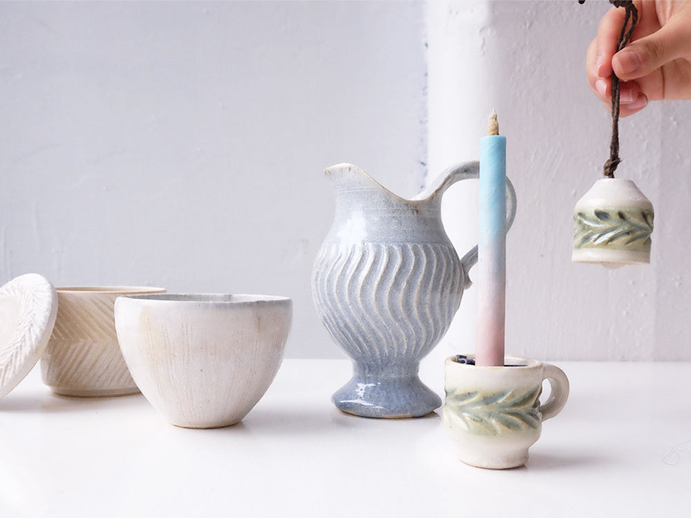 Ceramic Pitcher by Mishio Suzuki