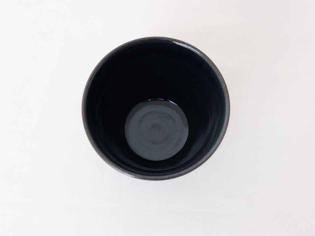 Medium Indigo Glaze Bowls by Shussai-gama