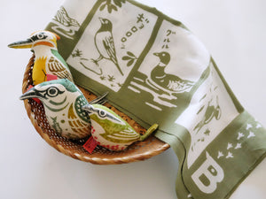 Load image into Gallery viewer, WBSJ Bird Song Guide Tenugui Cloth 'Vol.3'