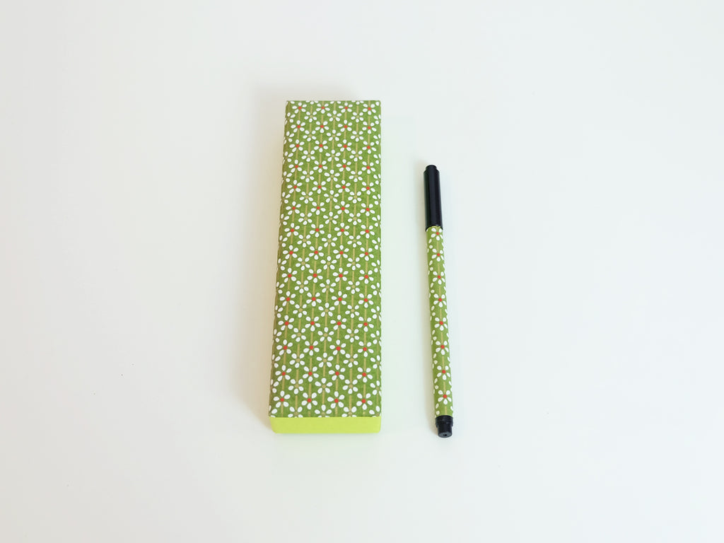 Calligraphy Pen and Pen Case (Green)