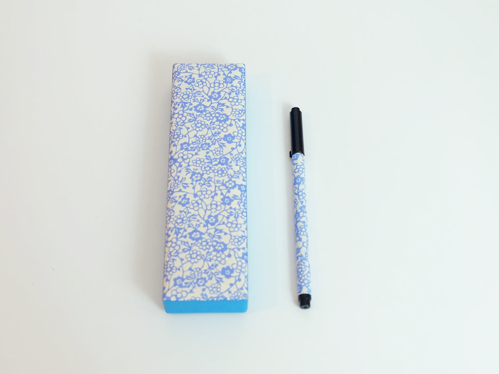 Calligraphy Pen and Pen Case (Light Blue)