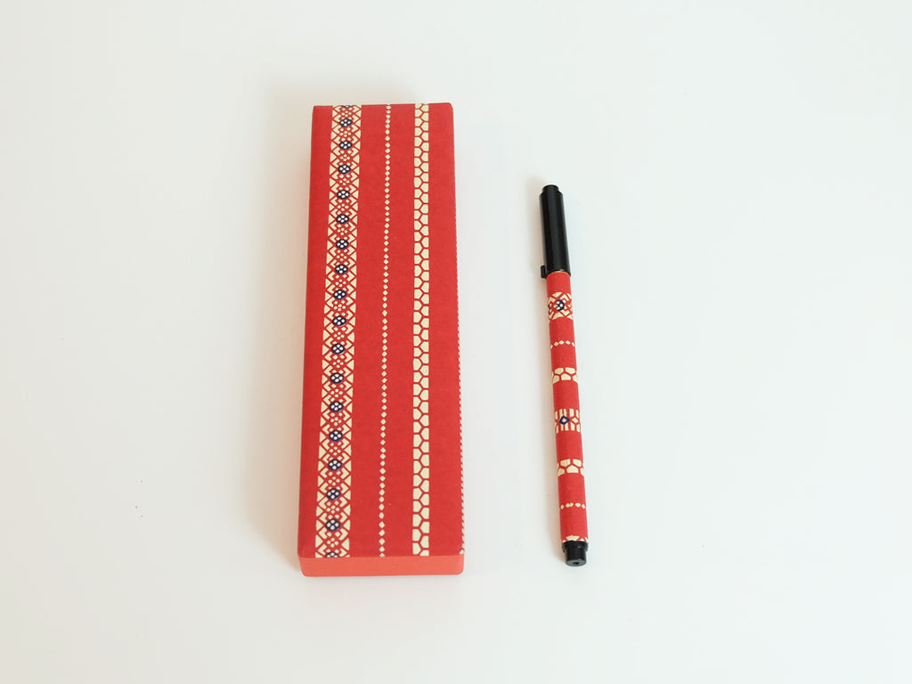 Calligraphy Pen and Pen Case (Red)