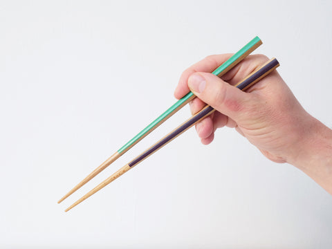 Matsukan Chopsticks: Green and Purple Panels