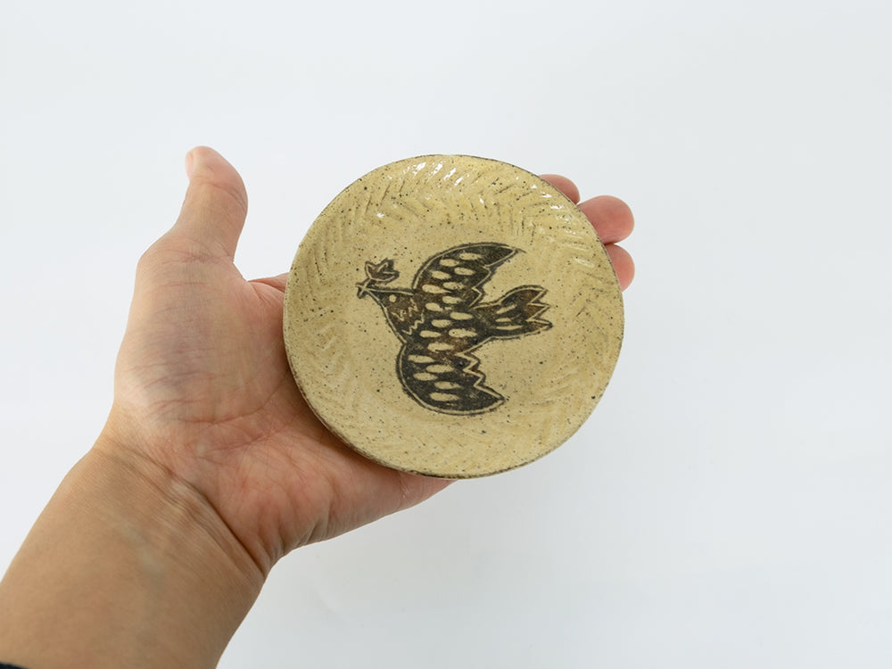 Bird Design Small Plate by Takahiro Manome