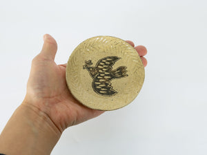 Load image into Gallery viewer, Bird Design Small Plate by Takahiro Manome