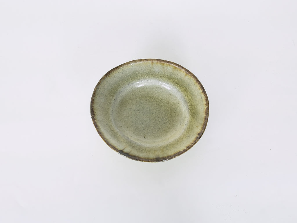 Small Tea Plate: Moss Green (Round)