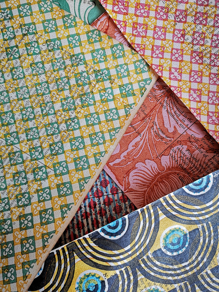 Hand Printed Antique Lining Papers