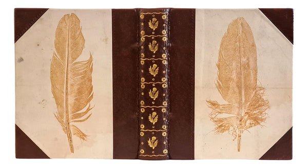 feather print properly made book