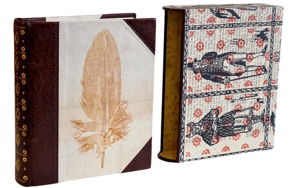 feather journal properly made book
