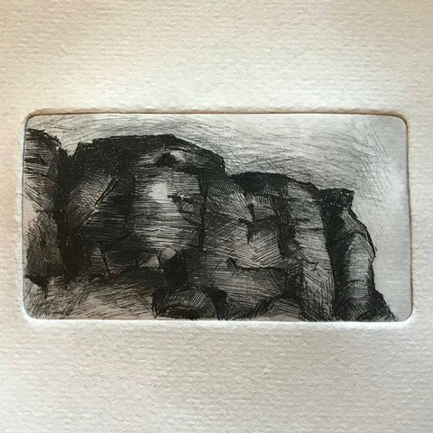 Etching by Paul Bell on WSH handmade paper