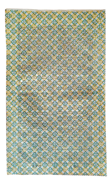 Block printed decorative paper