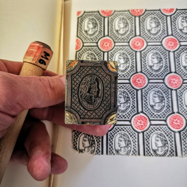 Repeat pattern block printing with multiple blocks