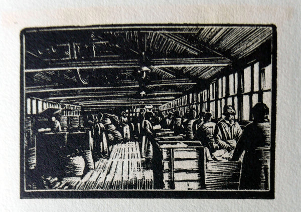 women sorting rags for papermaking
