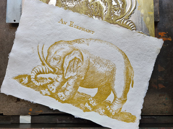 An Elephant (gold)