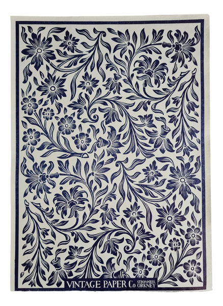 VPCo Press Vintage Floral Inky Blue