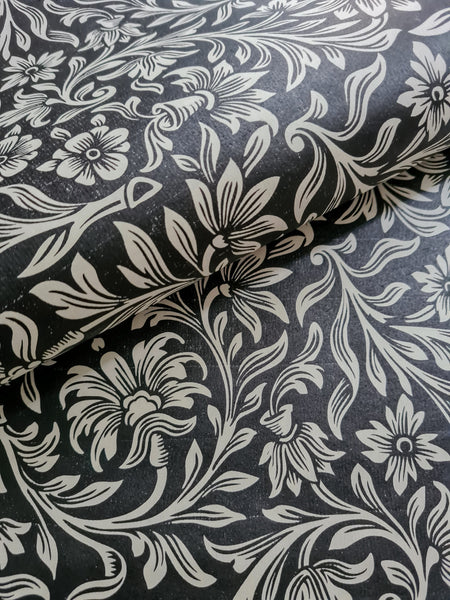 VPCo Press Vintage Floral Black (beige)