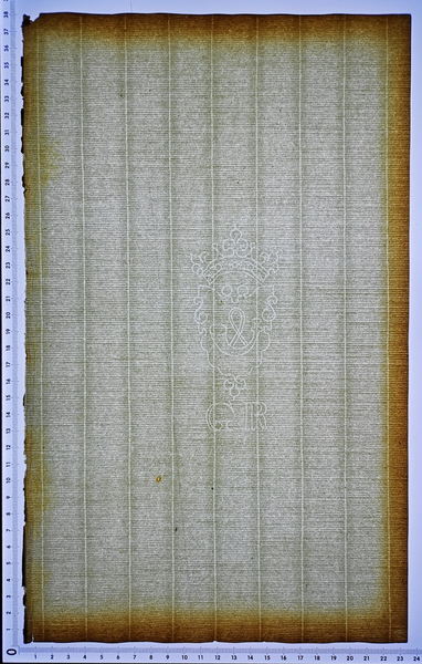 Taylor Posthorn watermark handmade antique paper 1700s